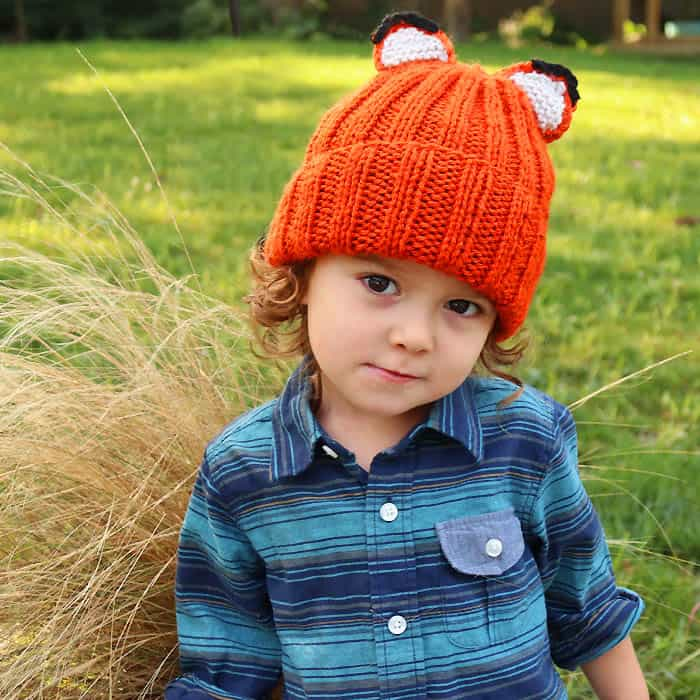 Fox Hat Free Knitting Pattern