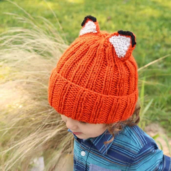 Fox Hat Free Knitting Pattern
