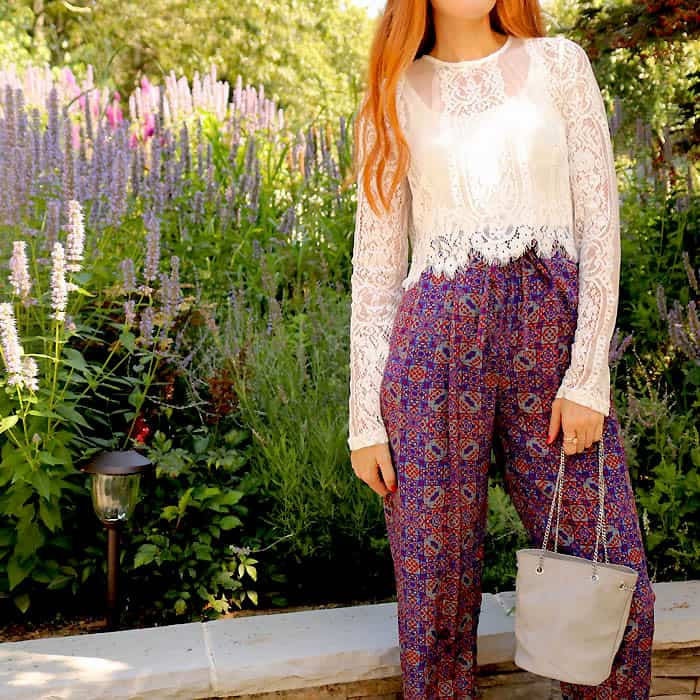 Tobi Lace Top Anthropologie Silk Pants