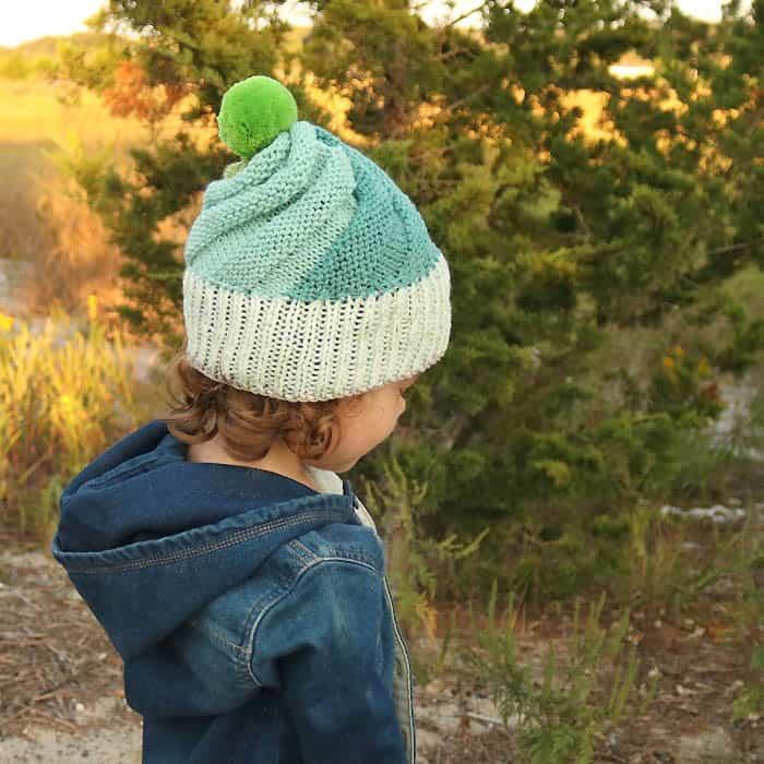 Super Easy Swirl Hat Knitting Pattern - Gina Michele e352bf6afd5