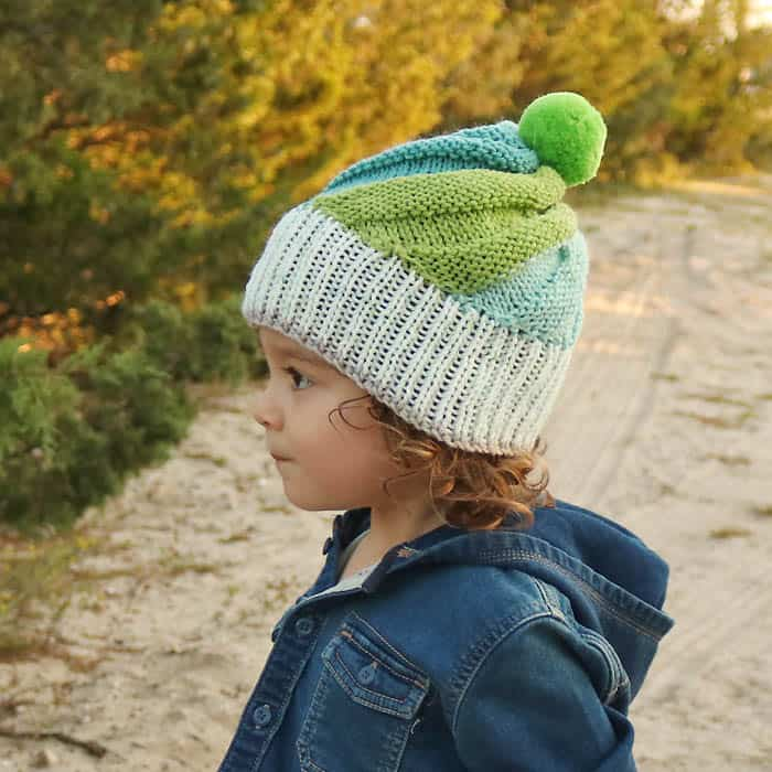 Super Easy Swirl Hat Free Knitting Pattern