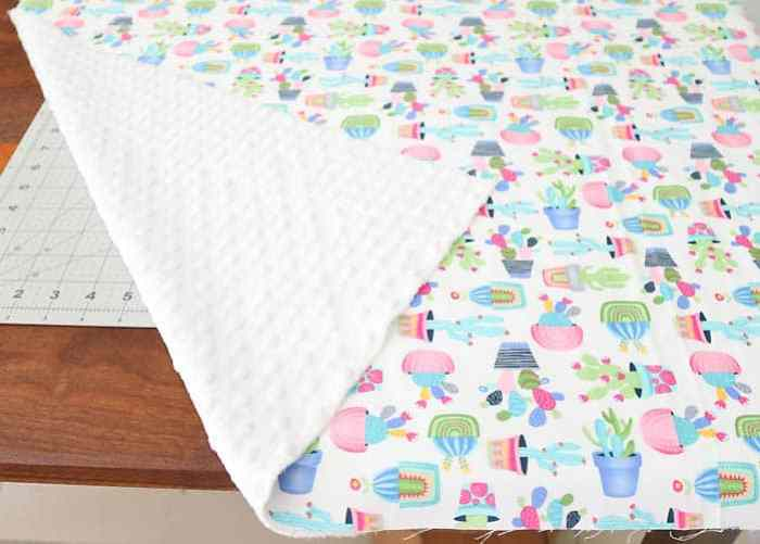How to Sew an Easy Baby Blanket - Gina Michele