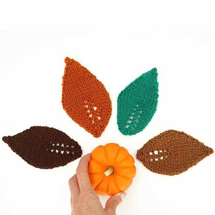 Easy Leaf Free Knitting Pattern by Gina Michele