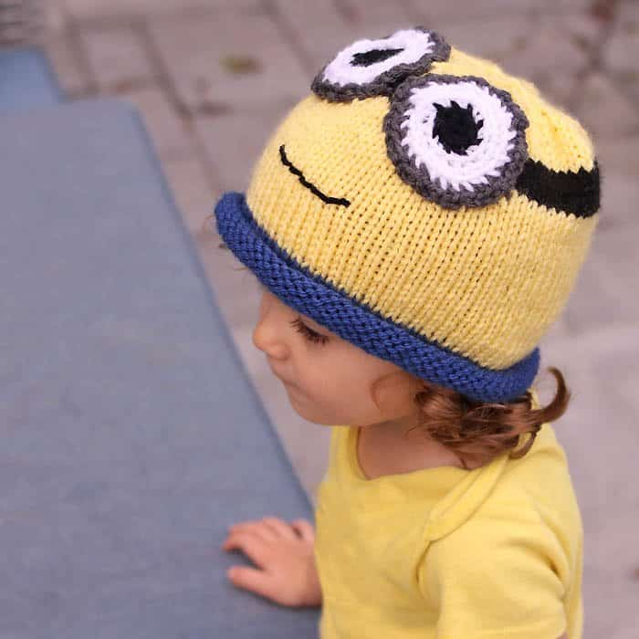 013404e0822 Minion Hat Free Knitting Pattern- perfect for Halloween! - Gina Michele