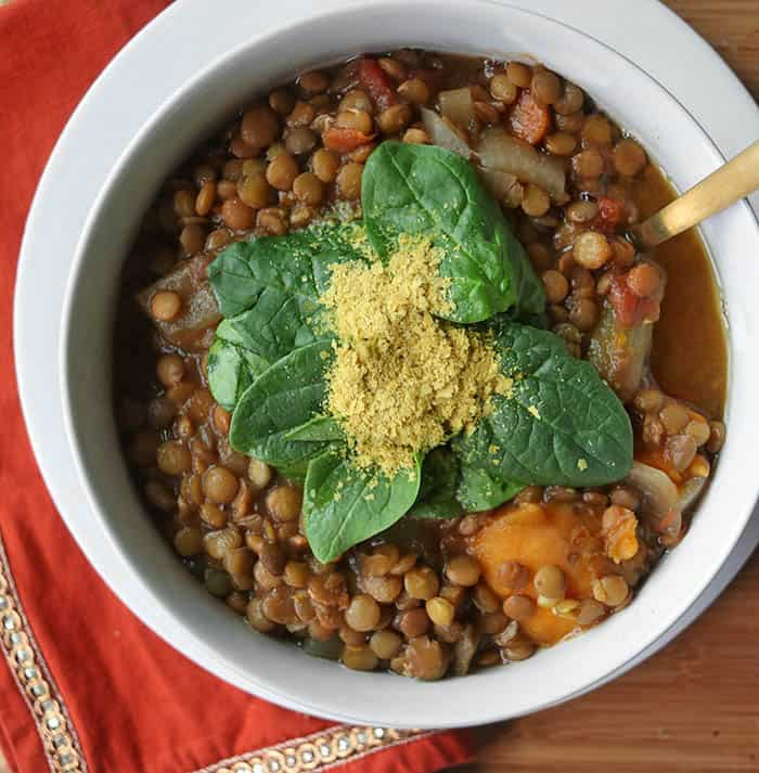 Vegan Slow Cooker Easy Lentil Soup