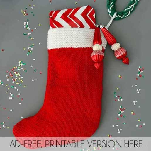Knitting Christmas Stocking Pattern Free.Flat Knit Christmas Stocking Knitting Pattern Gina Michele