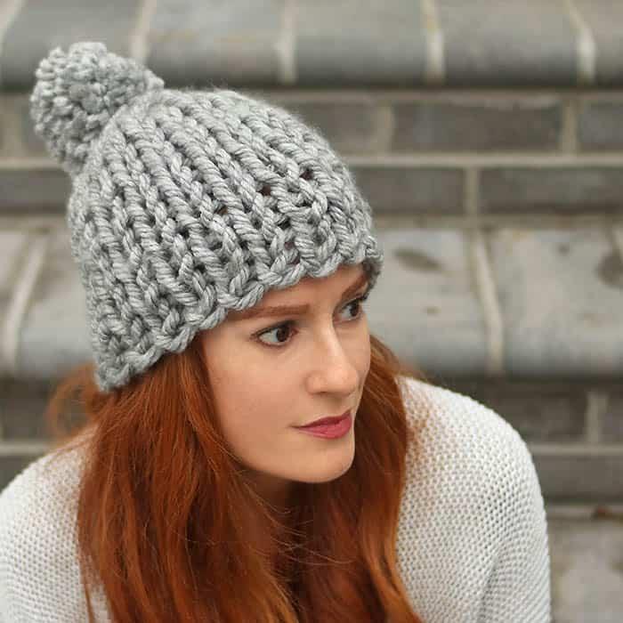 Flat Knit Super Chunky Hat Free Knitting Pattern
