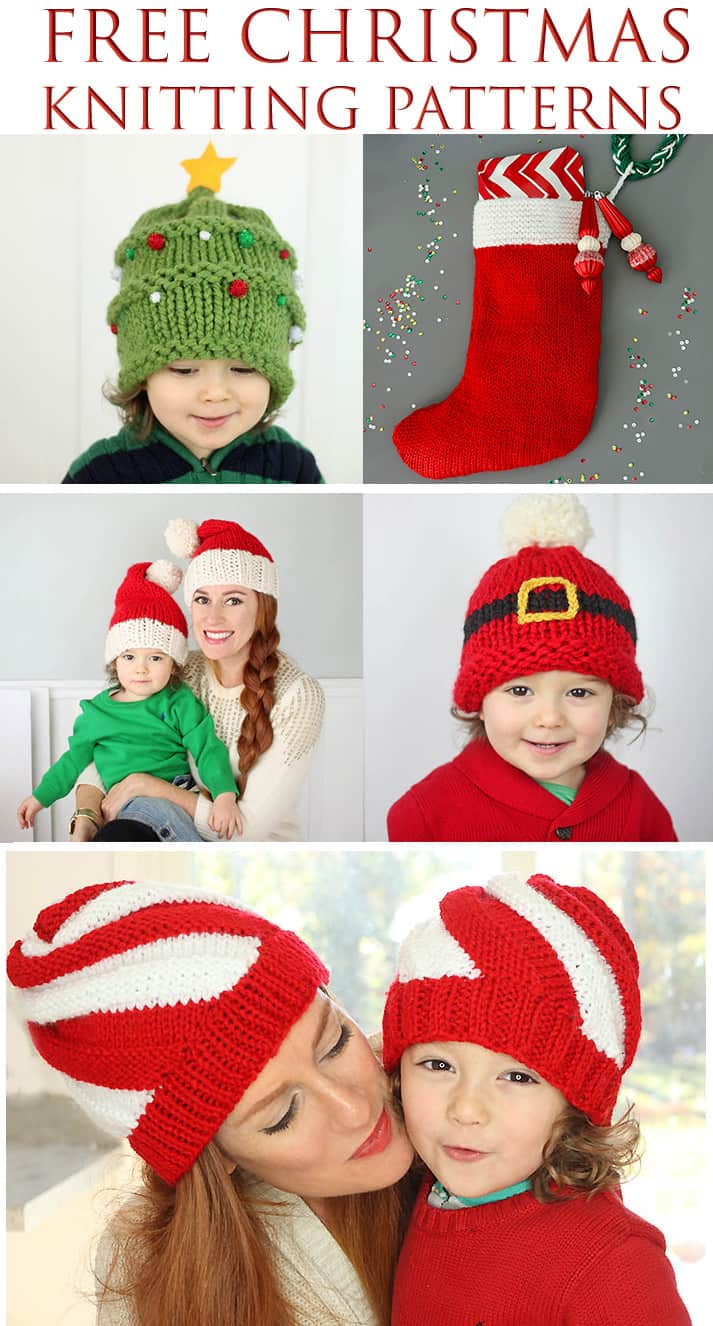 Free Christmas Knitting Patterns - Gina Michele