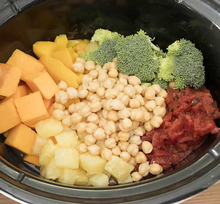 Vegan Slow Cooker Pineapple and Mango Coconut Curry
