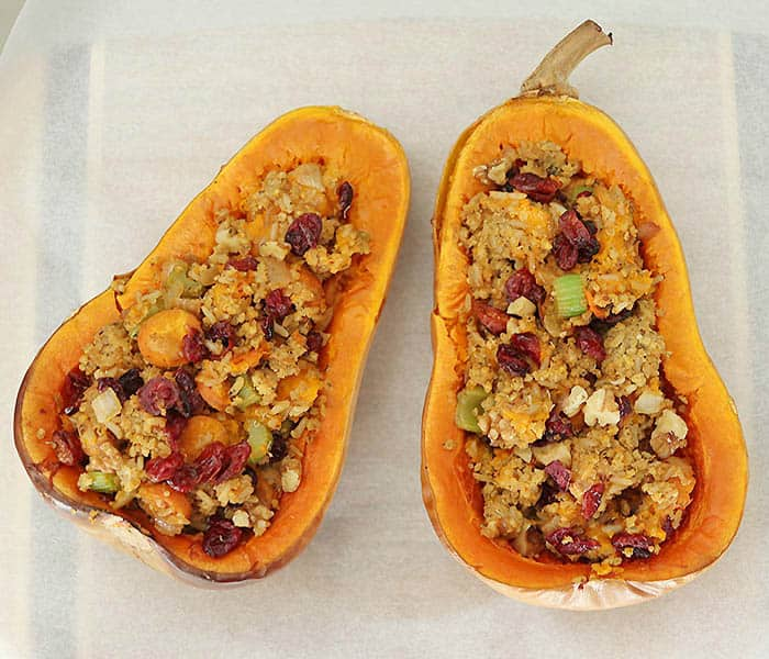 Vegan Stuffed Butternut Squash recipe