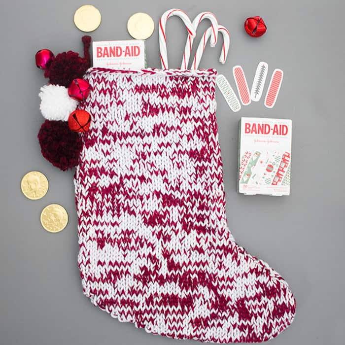 Easy Christmas Stocking Knitting Pattern Gina Michele