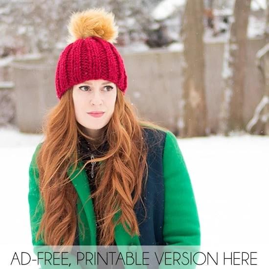 Thick & Quick Beanie Free Knitting Pattern - Gina Michele