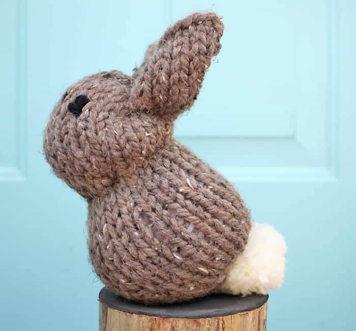 1 Square Bunny Knitting Pattern