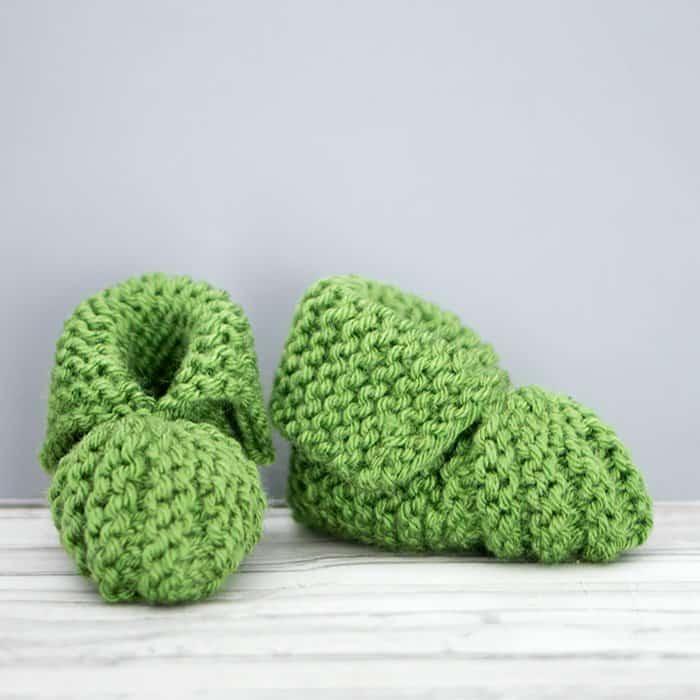 Flat Knit Booties Free Knitting Pattern