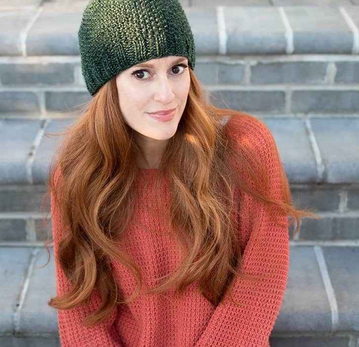 Seed Stitch Beanie Free Knitting Pattern