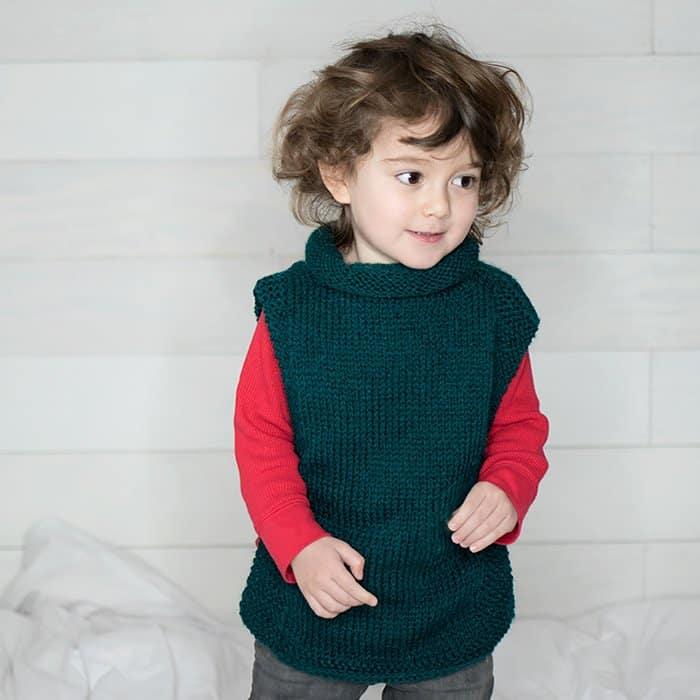 Easy Kids Sweater Free Knitting Pattern Gina Michele