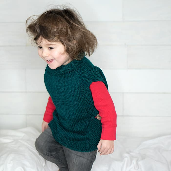 EASY Kids Sweater Free Knitting Pattern
