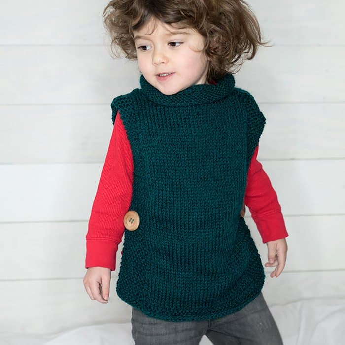 EASY Kids Sweater Free Knitting Pattern - Gina Michele