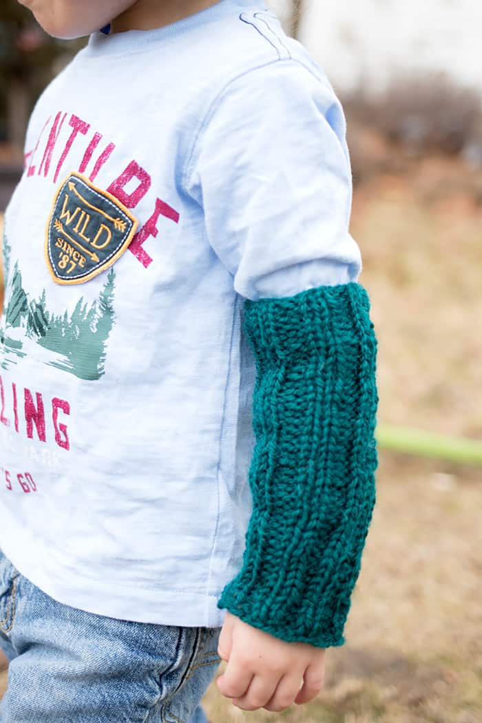 Kids Arm Warmers Free Knitting Pattern
