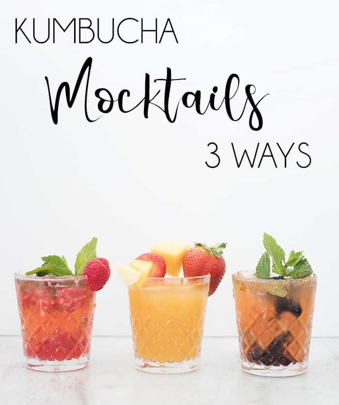 Non alcoholic Kumbucha mocktails