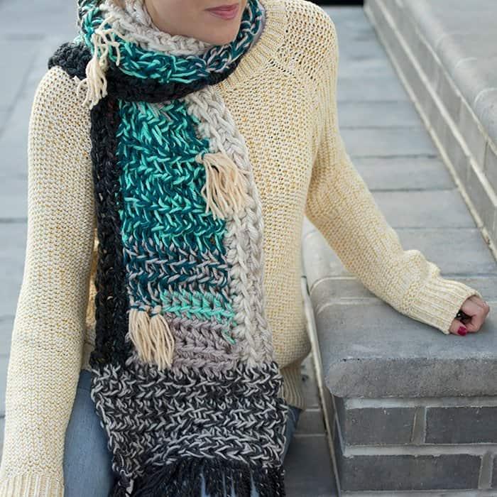 Leftover Yarn Scarf Crochet Pattern