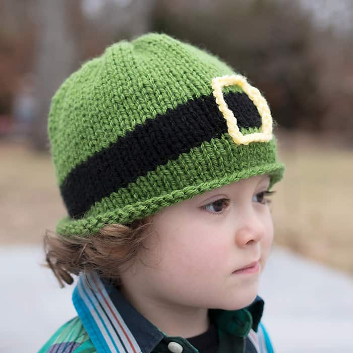 St Patrick's Day Kids Hat Free Knitting Pattern