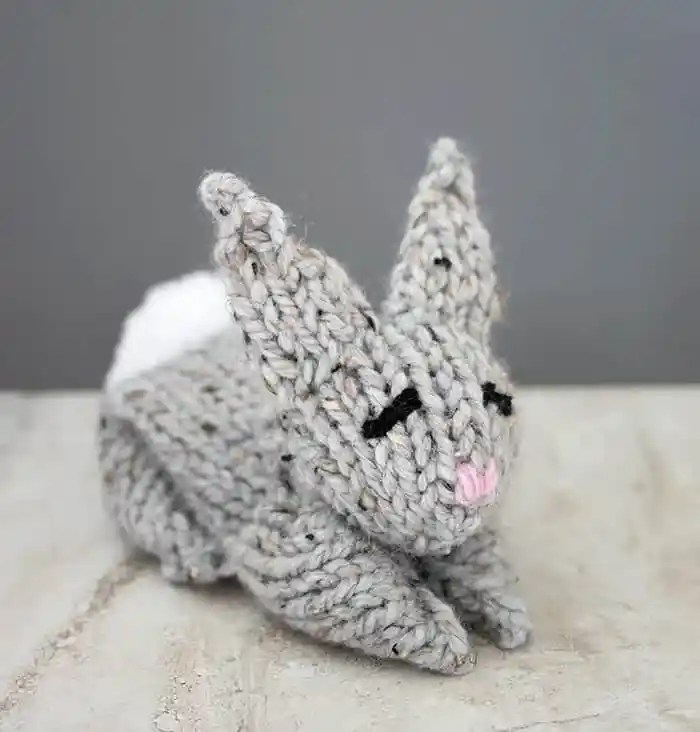 One Square Bunny Knitting Pattern