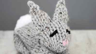 Knit Easter Chick Basket - Gina Michele