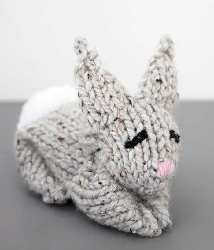 One Square Knit Bunny