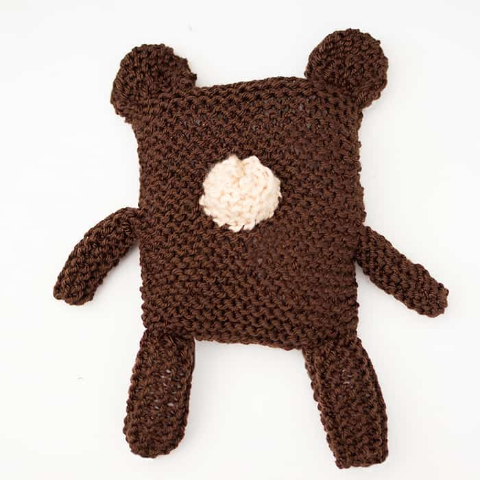 Square Bear Knitting Pattern