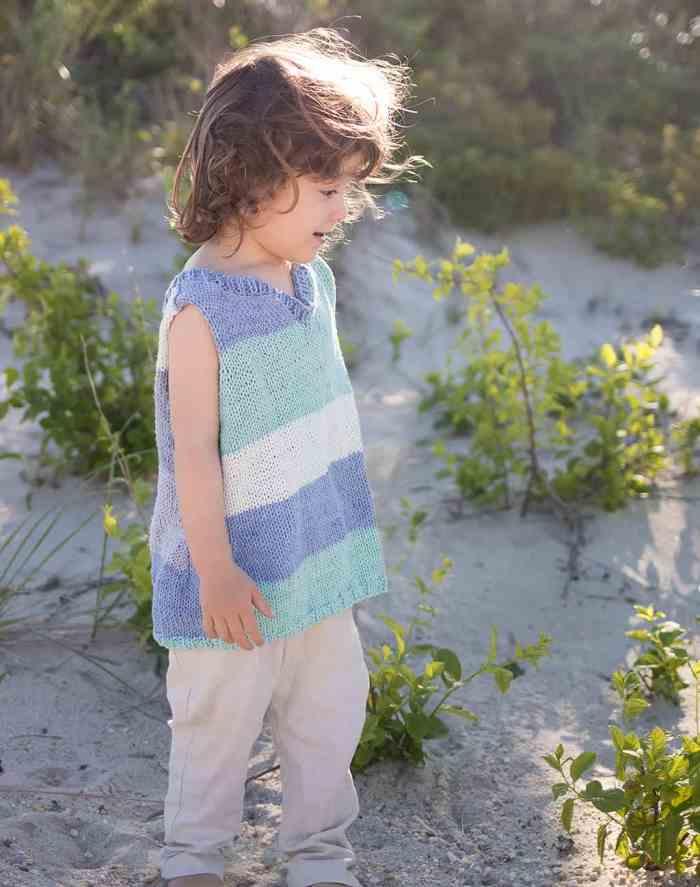 Kids Tank Knitting Pattern
