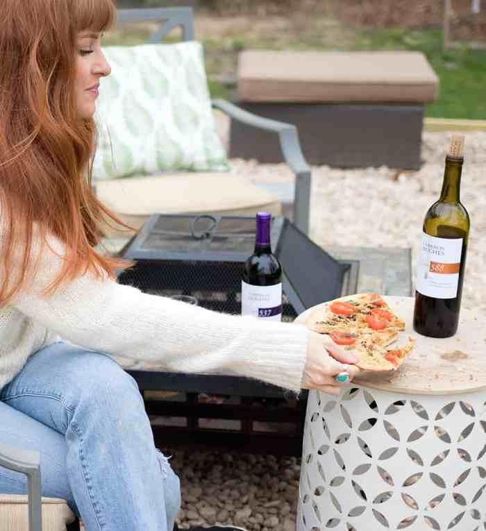 Vegan Caprese Pizza by Gina Michele