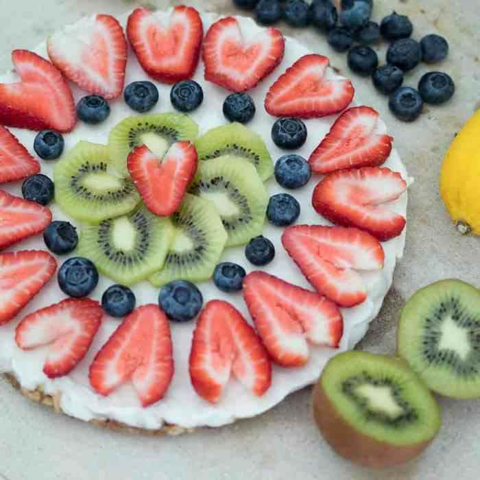 Vegan Fruit Pizza No Bake by Gina Michele