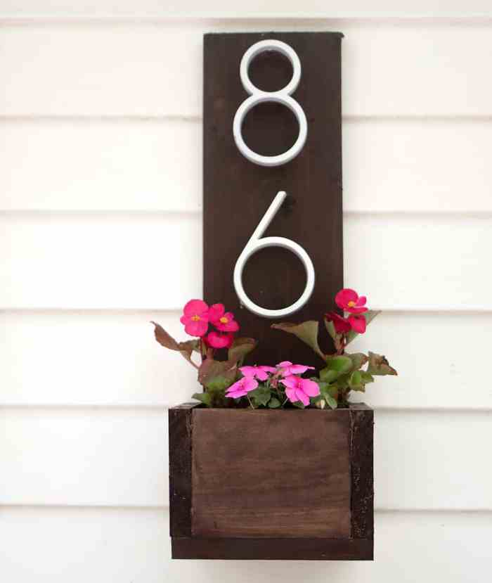 House Number Planter DIY