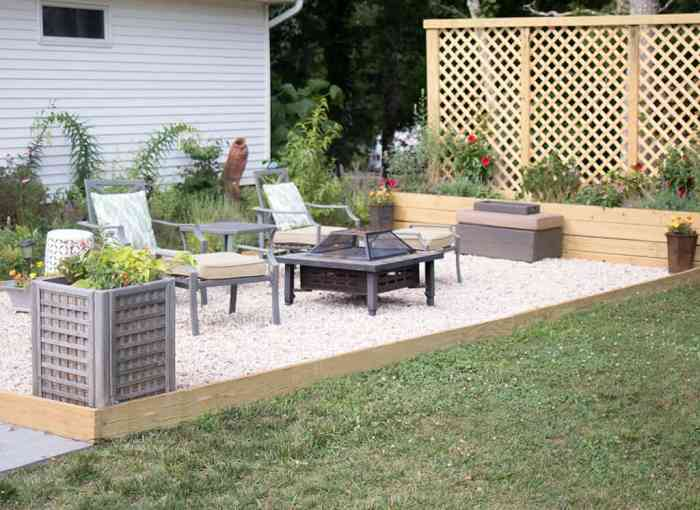 Pea Gravel Patio DIY