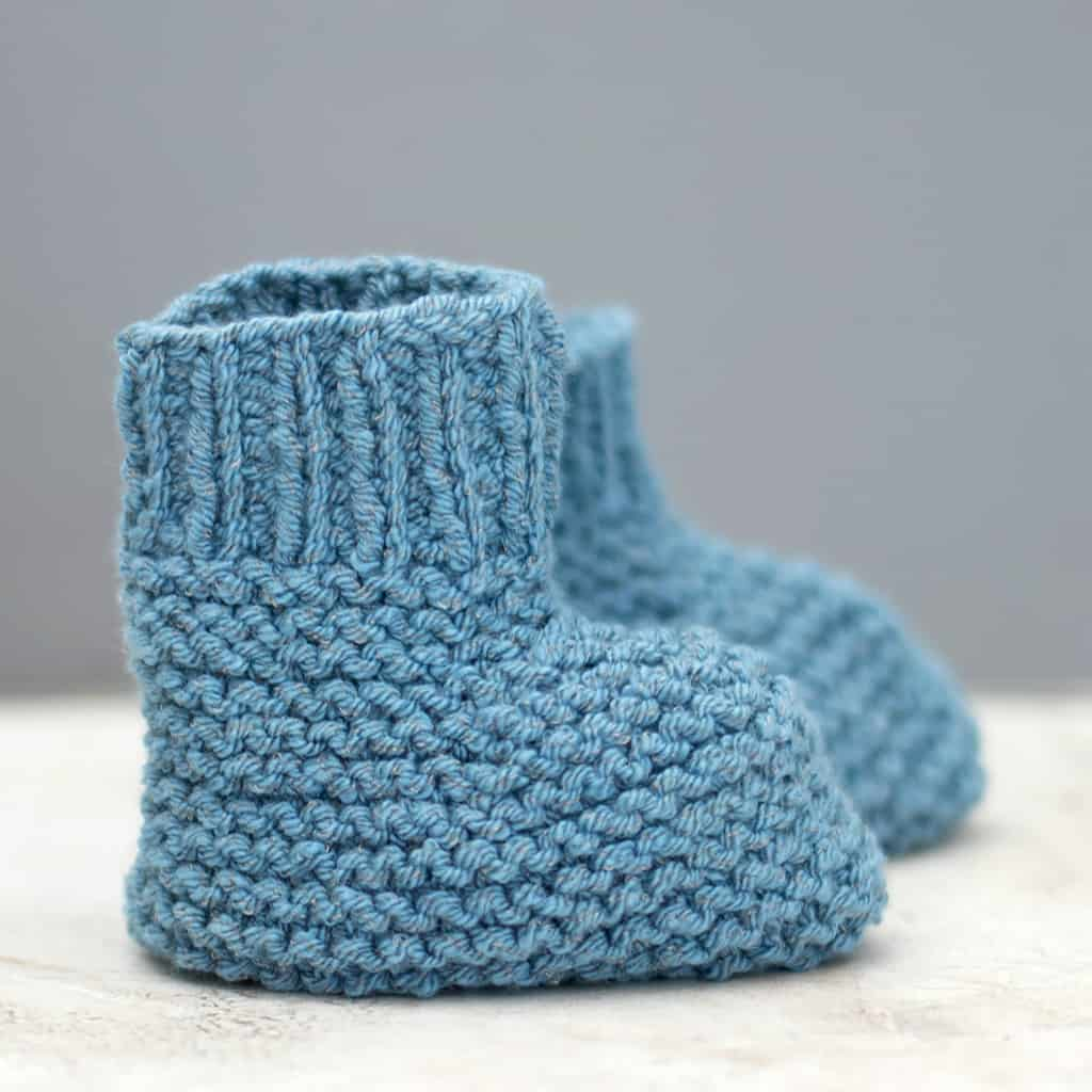 Easy Stay On Baby Booties Knitting