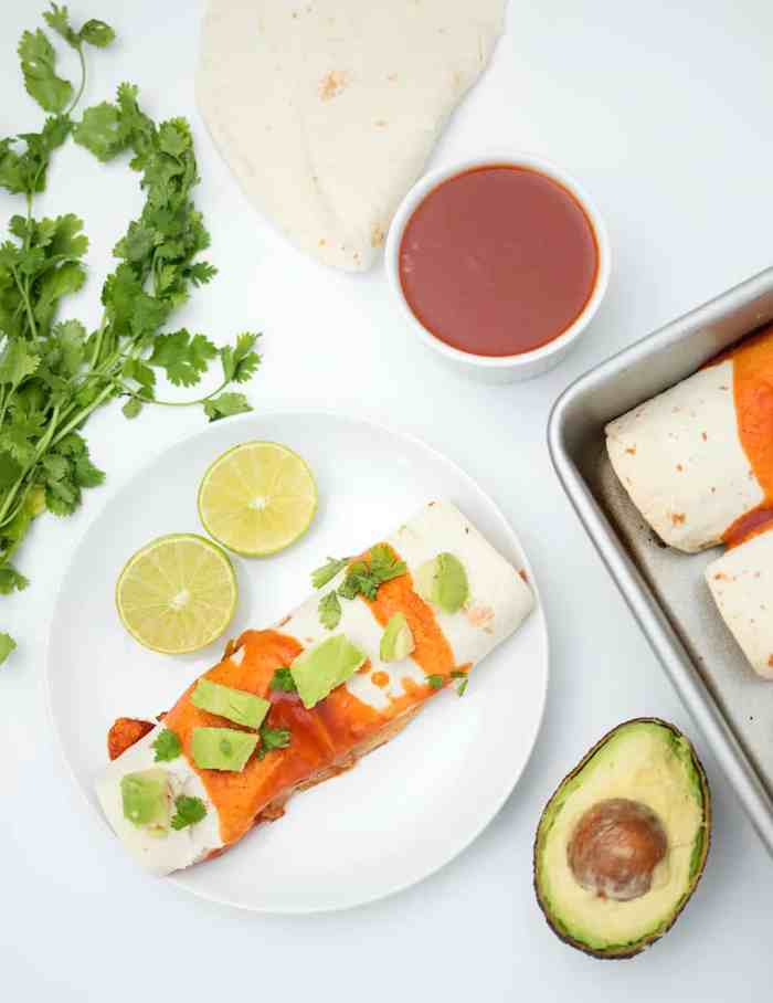 Easy Vegan Enchiladas by Gina Michele