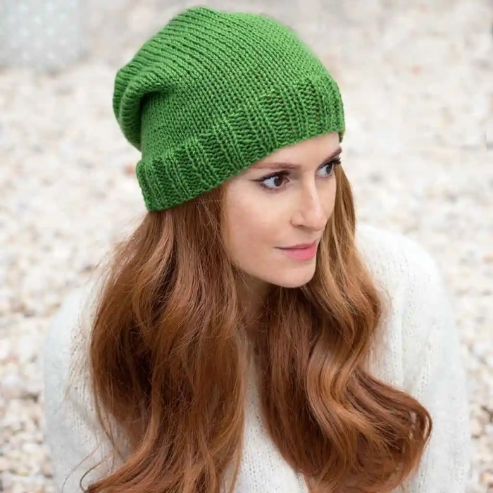 Beginner Flat Knit Hat Knitting Pattern by Gina Michele