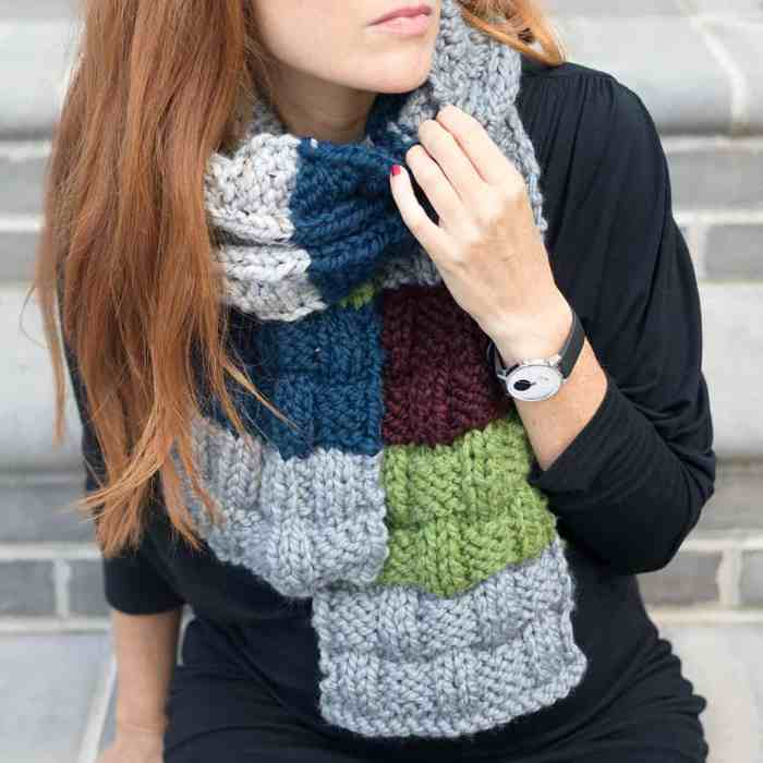 Scrap Busting Scarf Knitting Pattern by Gina Michele