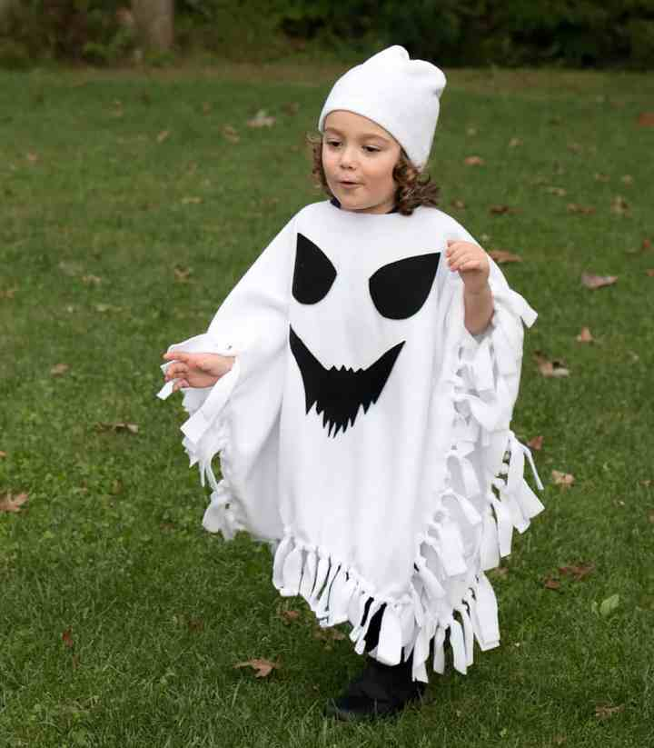 No Sew Halloween Costumes for Kids- Ghost