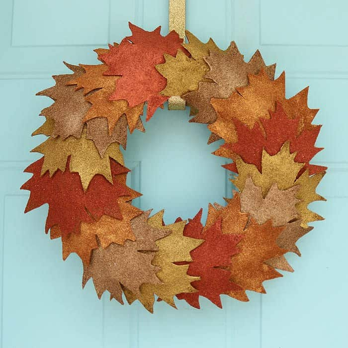 Metallic Leaf Wreath DIY