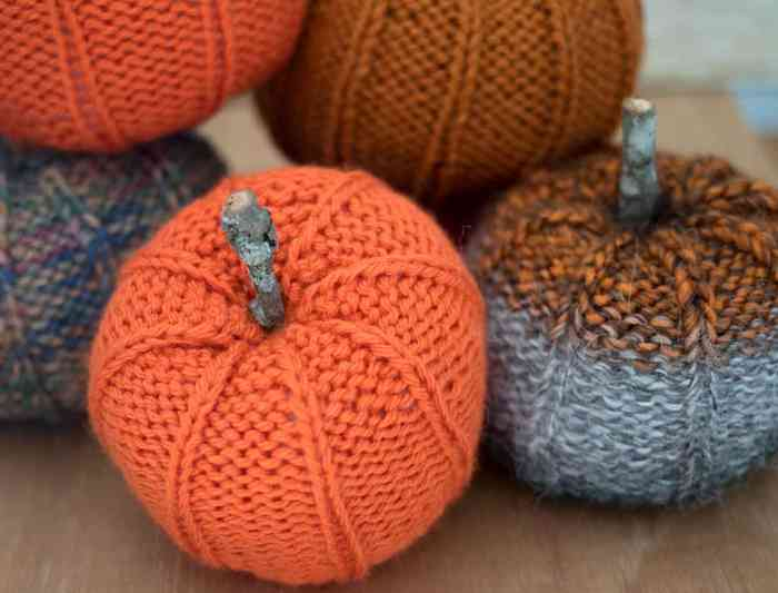 Pumpkin Knitting Pattern by Gina Michele