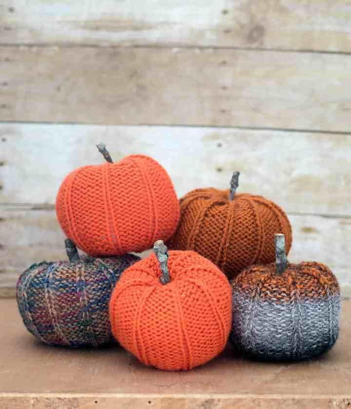 Pumpkin Knitting Pattern by Gina Michele