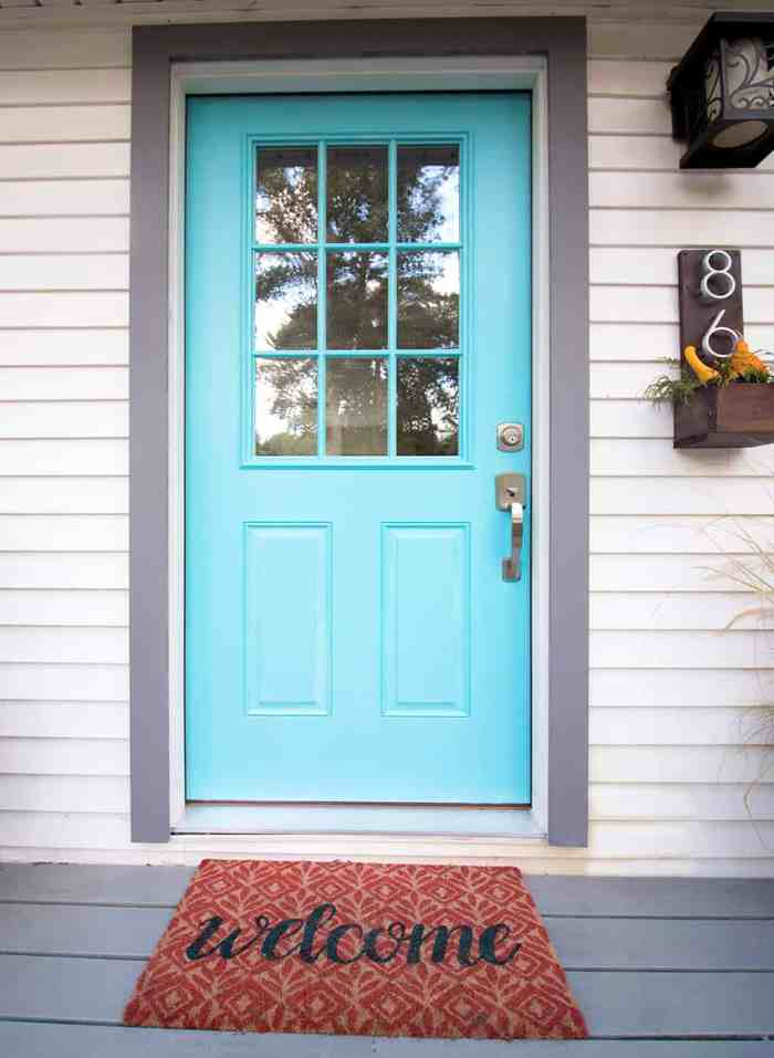 How To Paint Fiberglass Doors Gina Michele