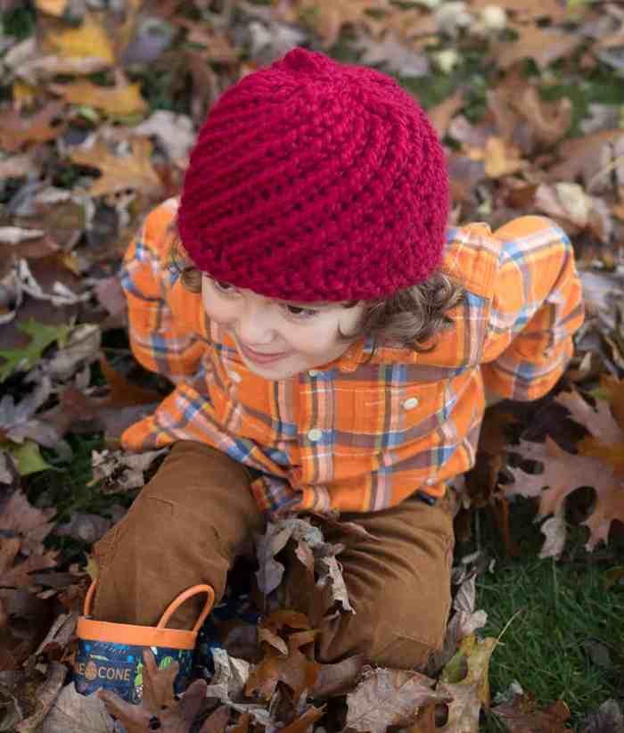 Kids Swirl Hat Knitting Pattern