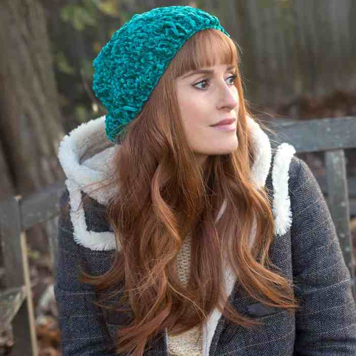 Velvet Hat Knitting Pattern by Gina Michele