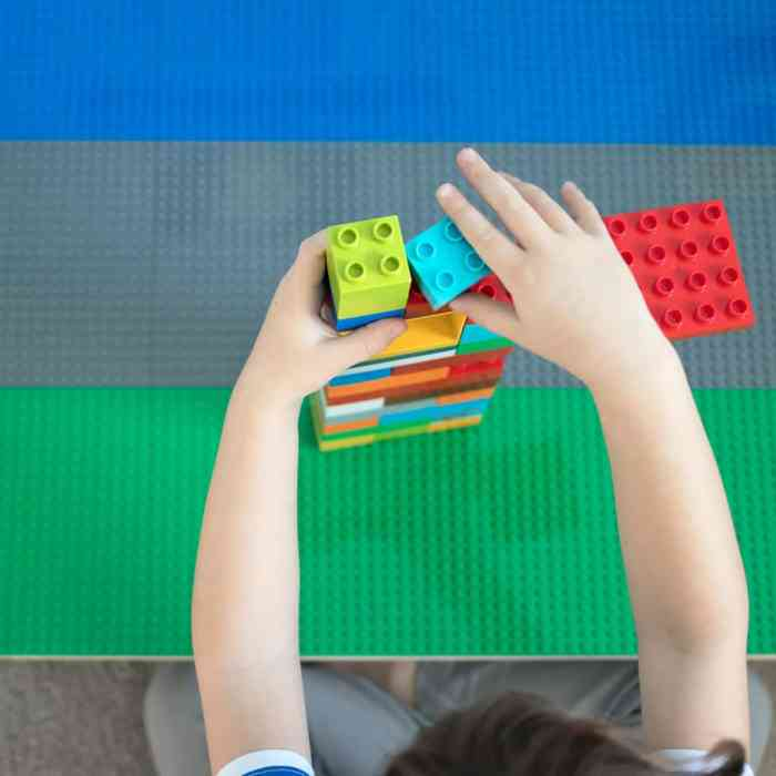 Lego Table DIY by blogger Gina Michele