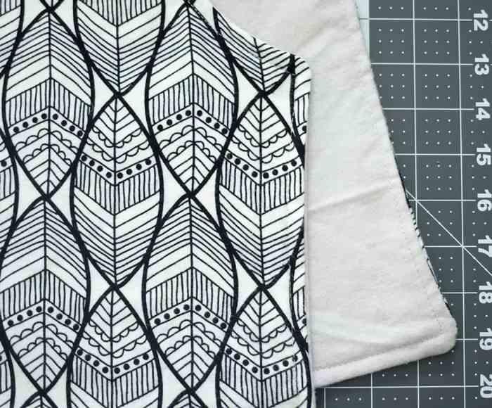 How to Sew a Contoured Burp Cloth