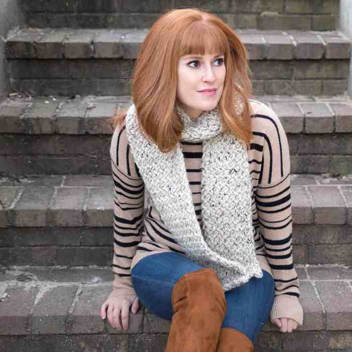 Woven Stitch Scarf Knitting Pattern