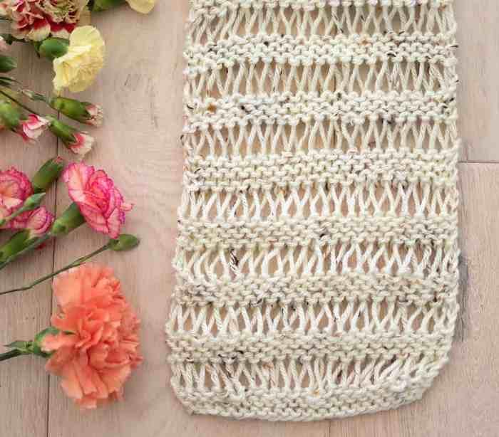 Drop Stitch Scarf Knitting Pattern - Gina Michele